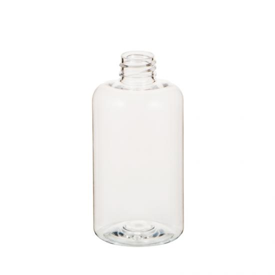 Clear PET Plastic Boston Round Cosmetic Bottle