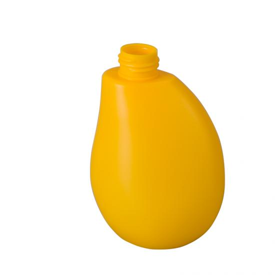 Yellow Plastic PET irregular Lotion Bottle