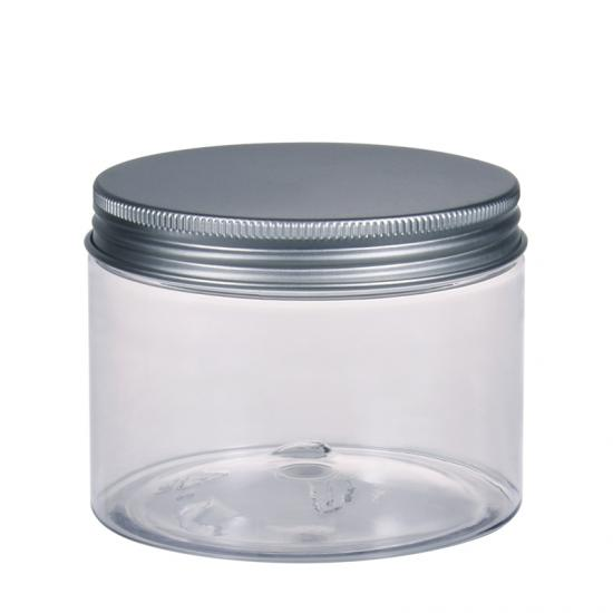 Transparent PET Straigh Sided Plastic Jar